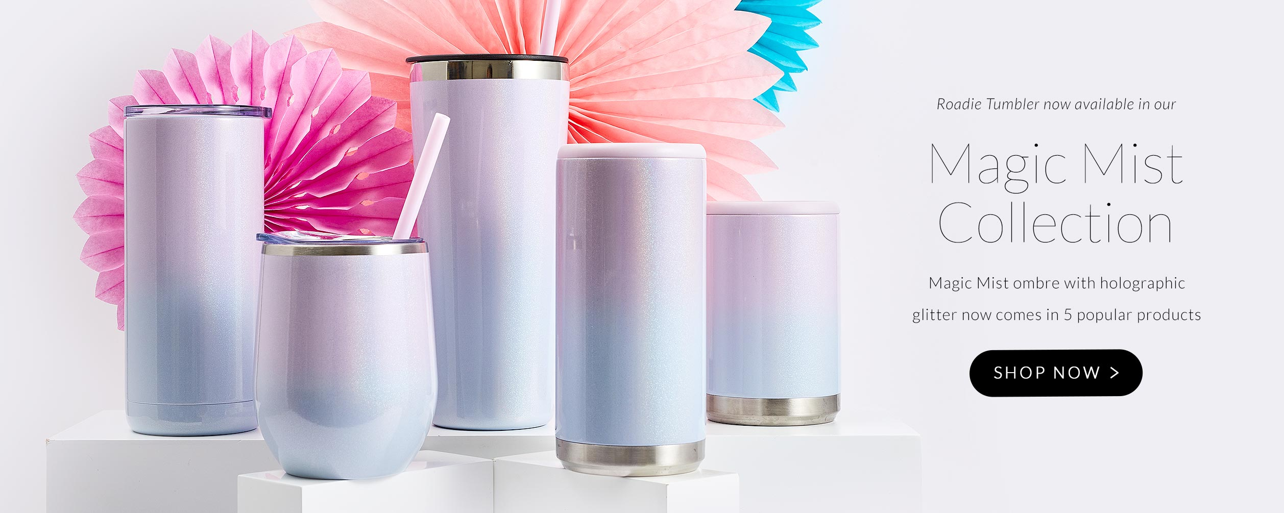 Magic Mist Ombre Collection now includes many of our favorite styles including: Maker Kids, Maker 16oz, Bev Steel, Roadie, Jewel Flask, Skinny Can Cooler and Standard Can Cooler. Start Shopping.